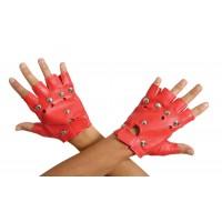 Αποκριάτικα γάντια κοντά κοφτά κόκκινα Punk 80435 Αποκριάτικα