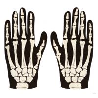 Αποκριάτικα γάντια κοντά σκελετός 80489 Αποκριάτικα