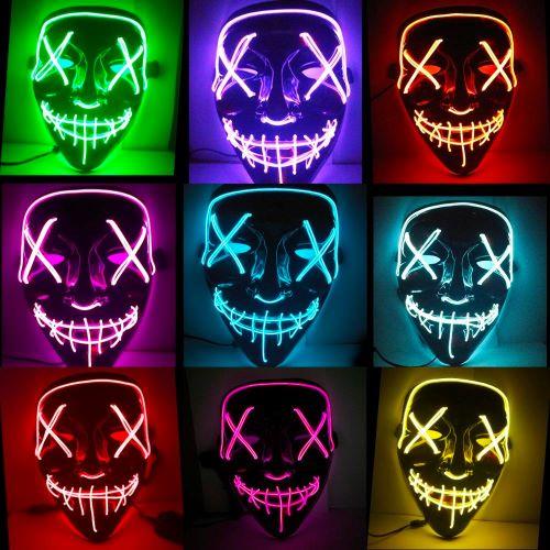 Μάσκα πλαστική με φως LED 12060